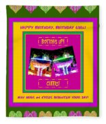 Birthday Girl's Birthday Wishes Fleece Blanket