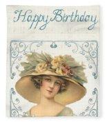 Birthday Lady Fleece Blanket