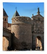 Bisagra Gate Toledo Spain Fleece Blanket