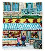 Biscuiterie Oscar Rue Ontario Fleece Blanket