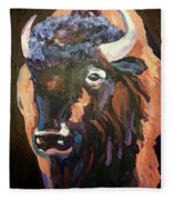 Bison At Dusk Fleece Blanket