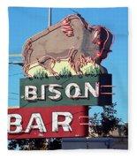 Miles City Montana - Bison Bar Fleece Blanket