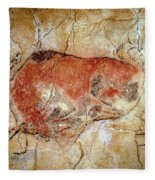 Bison From The Altamira Caves Fleece Blanket