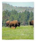 Bison Herd Fleece Blanket