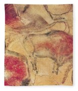 Bisons From The Caves At Altamira Fleece Blanket
