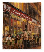 Bistrot Champollion Fleece Blanket