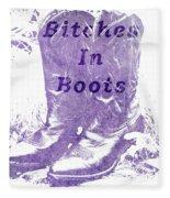 Bitches In Boots Fleece Blanket