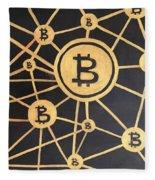 Bitcoin Fleece Blanket
