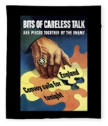 Bits Of Careless Talk Fleece Blanket