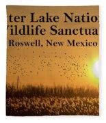 Bitter Lake National Wildlife Refuge Birds, Roswell, New Mexico Fleece Blanket