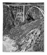 Bixby Creek Bridge Big Sur Photo  Circa 1939 Fleece Blanket