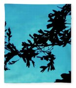 Black And Blue Silhouette Fleece Blanket