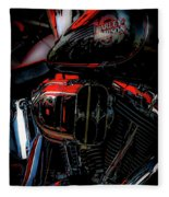 Black And Red Harley 5966 H_2 Fleece Blanket