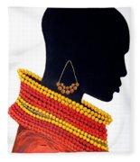 Black And Red - Original Artwork Fleece Blanket