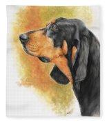 Black And Tan Coonhound Fleece Blanket