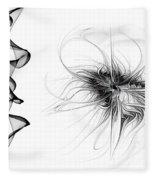 Black And White - 2 Fleece Blanket