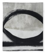 Black And White Abstract 2- Art By Linda Woods Fleece Blanket
