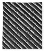 Black And White Abstract Lines Fleece Blanket