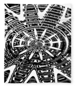 Black And White Abstracts Fleece Blanket
