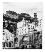 Black And White Amalfi Fleece Blanket
