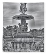 Bedesta Statue Black And White  Fleece Blanket