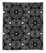 Black And White Boho Pattern 3- Art By Linda Woods Fleece Blanket
