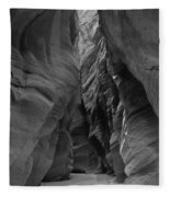 Black And White Buckskin Gulch Fleece Blanket