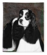 Black And White Cookie Fleece Blanket
