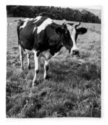 Black And White Cow Fleece Blanket