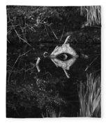 Black And White Cyclops Fleece Blanket