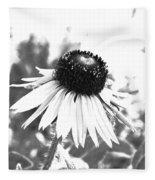 Black And White Daisy Fleece Blanket
