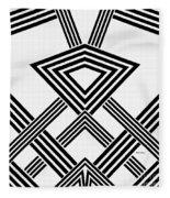 Black And White Diamond Fleece Blanket