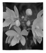 Black And White Flower Fleece Blanket