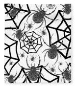 Black And White Halloween Fleece Blanket