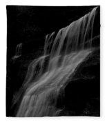 Black And White Hidden Falls Fleece Blanket