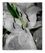 Black And White Life Fleece Blanket