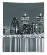Black And White Louisville Fleece Blanket