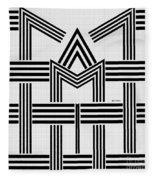 Black And White M Fleece Blanket
