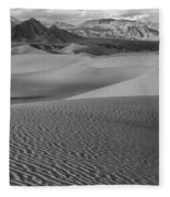 Black And White Mesquite Sand Dunes Fleece Blanket