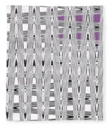 Black And White Metal Panel Abstract Fleece Blanket
