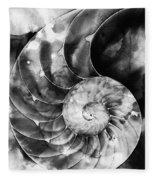 Black And White Nautilus Shell By Sharon Cummings Fleece Blanket