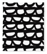Black And White Pebbles- Art By Linda Woods Fleece Blanket