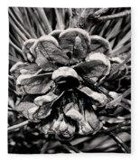 Black And White Pine Cone Wall Art Fleece Blanket
