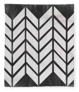 Black And White Quilt Fleece Blanket