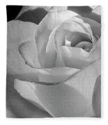 Black And White Rose Fleece Blanket