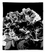 Black And White Roses Fleece Blanket