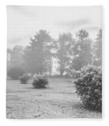 Black And White Snow Landscape Fleece Blanket