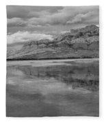 Black And White Talbot Lake Sunset Fleece Blanket
