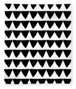 Black And White Triangles- Art By Linda Woods Fleece Blanket