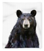 Black Bear Fleece Blanket by Amy Hamilton
